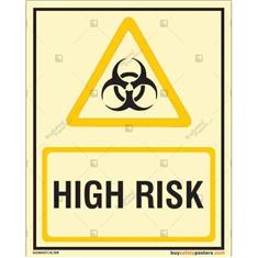 High Risk Autoglow Sign