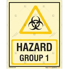 Hazard Group 1 Autoglow Sign