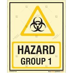 Hazard Group 1 Photoluminescent Signboard
