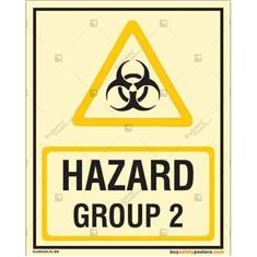 Hazard Group 2 Autoglow Sign