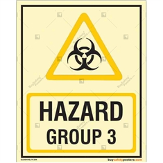 Hazard Group 3 Photoluminescent Signboard