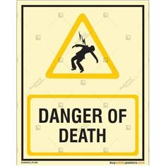 Danger Of Death Photoluminescent Signboard
