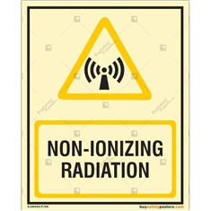 Non-Ionizing Radiation Glow In The Dark Sign
