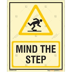 Mind The Step Glowing Sign