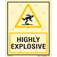 Highly Explosive Glow In The Dark Sign
