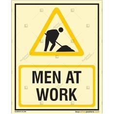 Man At Work Photoluminescent Signboard