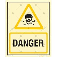 Danger Glow In The Dark Signboard
