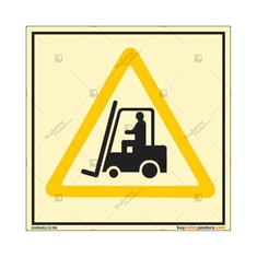 Forklift Safety Warning Autoglow Sign