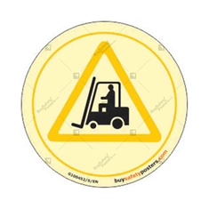 Forklift Safety Warning Glowing Sign