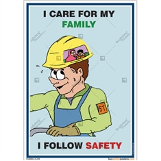 Safety-posters-in-English-Safety-first-poster