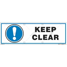 Keep Clear Sign in Rectangle