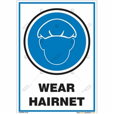 Wear Hairnet Signs in Portrait