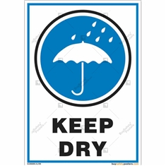 Keep Dry Signs in Portrait