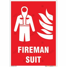Fireman Suit Sign in Portrait