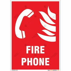 Fire Phone Sign in Portrait
