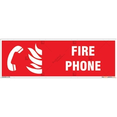 Fire Phone Sign in Rectangle