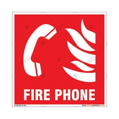 Fire Phone Sign in Square