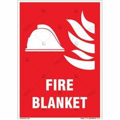 Fire Blanket Sign in Portrait