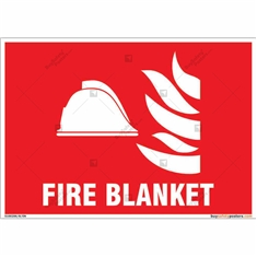 Fire Blanket Sign in Landscape