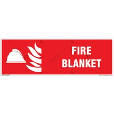 Fire Blanket Sign in Rectangle