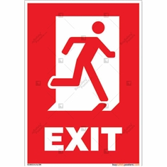 Exit Safety Sign in Portrait