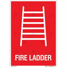 Fire Ladder Sign in Portrait