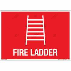 Fire Ladder Sign in Landscape