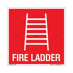 Fire Ladder Sign in Square