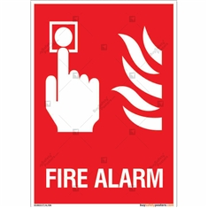Fire Alarm Sign in Portrait