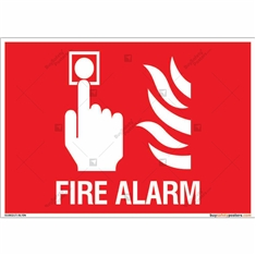 Fire Alarm Sign in Landscape