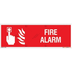 Fire Alarm Sign in Rectangle