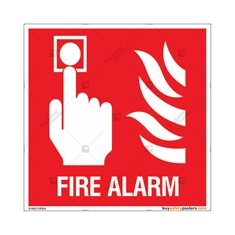 Fire Alarm Sign in Square