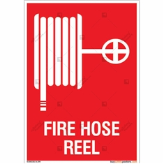 Fire Hose Reel Sign in Portrait
