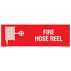 Fire Hose Reel Sign in Rectangle