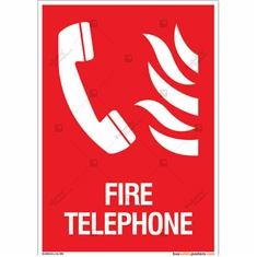 Fire Telephone Sign in Portrait