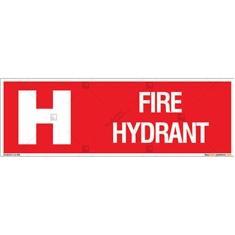 Fire Hydrant Sign in Rectangle
