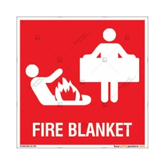 Fire Blanket Sign in Square