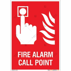 Fire Alarm Call Point Sign in Portrait