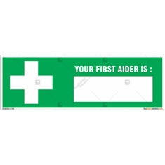 Your First Aider Name Sign in Rectangle