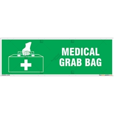 Medical First Aid Kit Sign in Rectangle