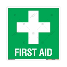 First Aid Safety Signs in Square