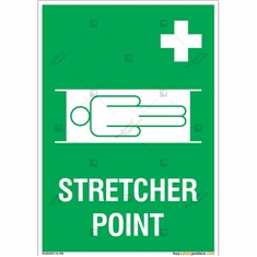 Stretcher Point Signs in Portrait