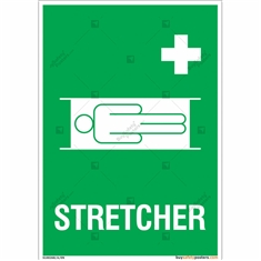 Stretcher Sign in Portrait