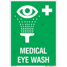 Medical Eye Wash Sign in Portrait