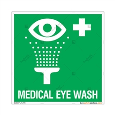Medical Eye Wash Signs in Square