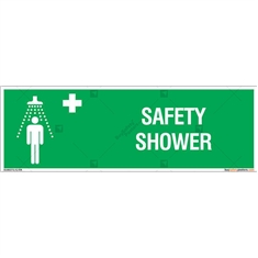 Safety Shower Sign in Rectangle