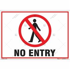 No Entry Landscape Sign