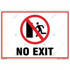 No Exit  Landscape Sign