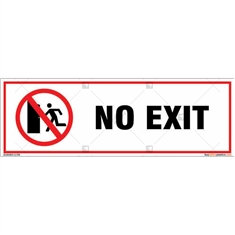 No Exit Sign in Rectangle