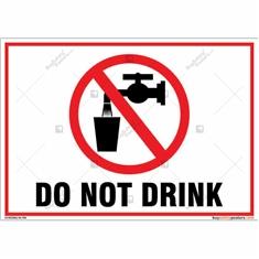 Do Not Drink Landscape Signboard